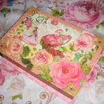麗しのデコラティブ!ピンクローズの豪華カードセット(BOX付)