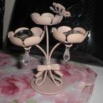 ピンク雑貨:蝶&お花の見せるアクセサリー収納♪インテリアにも♪