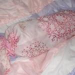 賃貸で毛布収納スペースがない!⇒100均リボンでピンククッションを自作