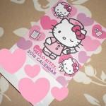 キティちゃんのカード型ピンクカレンダー、病院で無料配布♪