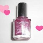 CANMAKEカラフルネイルズ☆ピンクジェリーでラメる!